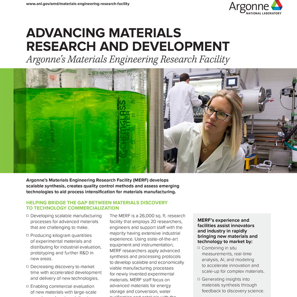 Advancing Materials Research and Development